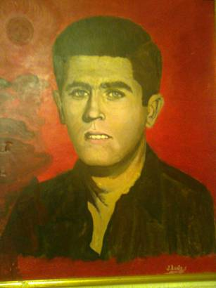 Pintura  homenaje a  Víctor, realizada por el camarada J. Luis A.